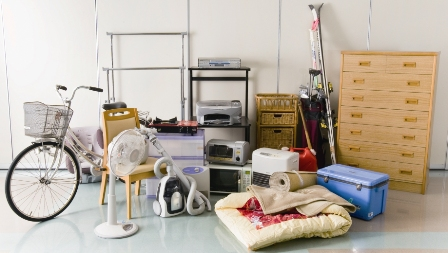 粗大ごみ・自転車・箪笥・布団・掃除機・扇風機など